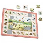 Larsen-NA3-FR Frame Puzzle - Pond (in French)