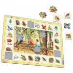 Larsen-NA4-FR Frame Puzzle - Forest (in French)