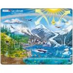 Larsen-NB1-FR Frame Puzzle - Le Climat et l'Effet de Serre (in French)