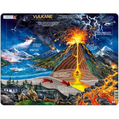 Larsen-NB2-DE Frame Jigsaw Puzzle - Volcano (in German)