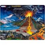 Larsen-NB2-EE Frame Jigsaw Puzzle - Volcano (in Estonian)