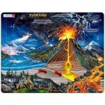Larsen-NB2-RU Frame Puzzle - Volcanoes (in Russian)