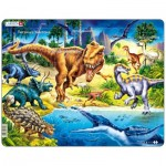 Larsen-NB3-RU Frame Puzzle - Dinosaurs (in Russian)