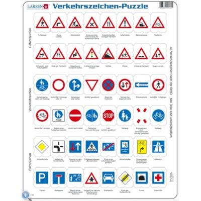 Larsen-OB3-DE Frame Jigsaw Puzzle - Traffic Sign (in German)