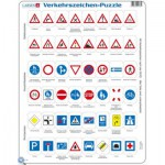 Larsen-OB3-DE Frame Jigsaw Puzzle - Traffic Sign (in German)