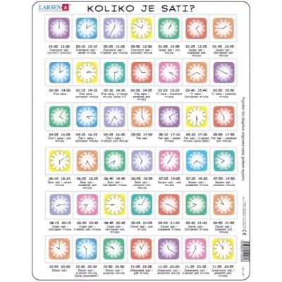 Larsen-OB7-HR Frame Puzzle - Clock-Puzzle (in Croatian)
