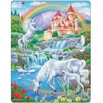 Larsen-PG2 Frame Puzzle - Unicorns