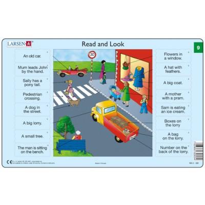 Larsen-RA05-EN-9-10 Frame Puzzle - Read and Look 09-10