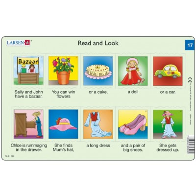 Larsen-RA09-EN-17-18 Frame Puzzle - Read and Look 17-18