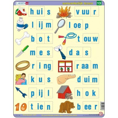 Larsen-SC13-NL Frame Jigsaw Puzzle - Dutch Reading 3