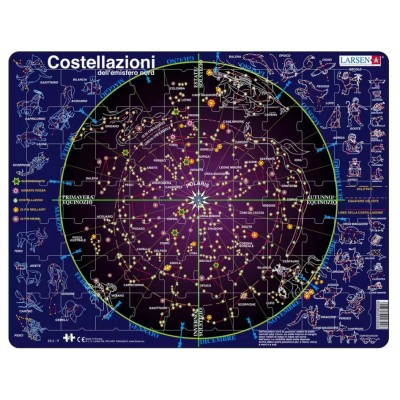Larsen-SS2-IT Frame Jigsaw Puzzle - Costellazioni (in Italian)