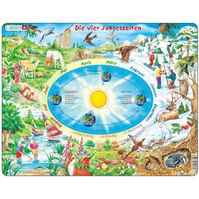 Larsen-SS3-DE Frame Jigsaw Puzzle - The Seasons of the Year (in German)