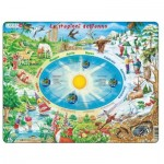 Larsen-SS3-IT Frame Jigsaw Puzzle - Le stagioni dell'anno (in Italian)