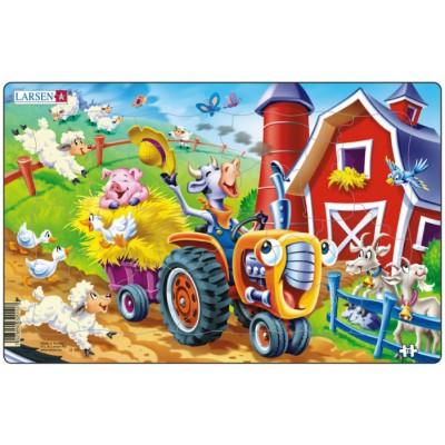 Larsen-U10-1 Frame Jigsaw Puzzle - Barnyard