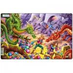 Larsen-U12-2 Frame Jigsaw Puzzle - Dragons