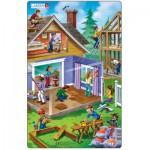 Larsen-U13-2 Frame Jigsaw Puzzle - House