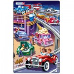 Larsen-U14-1 Frame Jigsaw Puzzle - Cars