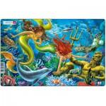 Larsen-U15-2 Frame Jigsaw Puzzle - Mermaids