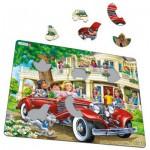 Larsen-US35 Frame Jigsaw Puzzle - Cabriolet Girls