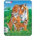 Larsen-V4-2 Frame Jigsaw Puzzle - Tiger