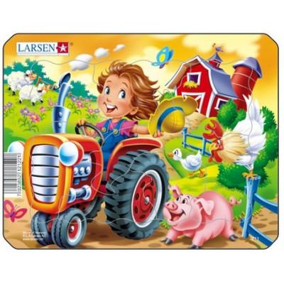 Larsen-Z11-2 Frame Jigsaw Puzzle - Tractor