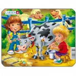 Larsen-Z11-4 Frame Jigsaw Puzzle - Cow