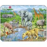 Larsen-Z8-1 Frame Jigsaw Puzzle - Exotic Animals