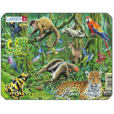 Larsen-Z8-3 Frame Jigsaw Puzzle - Exotic Animals