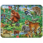Larsen-Z8-4 Frame Jigsaw Puzzle - Exotic Animals