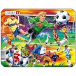 Larsen-Z9-2 Frame Jigsaw Puzzle - Soccer