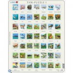Larsen-ZOO1-DE Frame Jigsaw Puzzle - Zoo (in German)