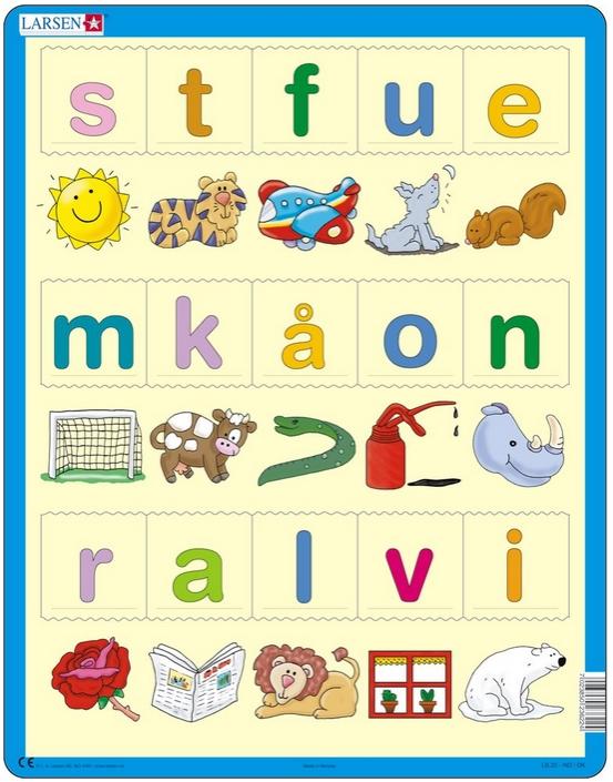 Puzzle Learn To Read Norwegian Larsen Ls27 24 Pieces