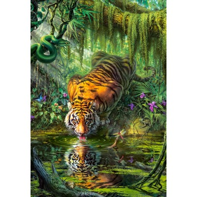 Puzzle Tiger In The Jungle Castorland 103935 1000 Pieces Jigsaw Puzzles Wild Animals Jigsaw Puzzle