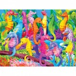 Puzzle  Master-Pieces-31359 XXL Pieces - Glow in the Dark - Singing Seahorses