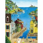 Puzzle  Master-Pieces-31675 XXL Pieces - A Walk on the Pier