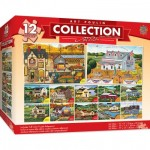 Master-Pieces-31720 12 Puzzles - Art Poulin Collection