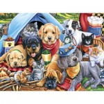 Puzzle  Master-Pieces-31724 XXL Pieces - Camping Buddies