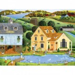 Puzzle  Master-Pieces-31728 XXL Pieces - Heartland - The White Duck Inn