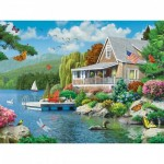 Puzzle  Master-Pieces-31806 XXL Pieces - Lakeside Memories