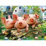 Puzzle  Master-Pieces-31817 XXL Pieces - Three Lil' Pigs