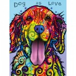 Puzzle  Master-Pieces-31821 XXL Pieces - Dean Russo - Dog is Love