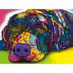 Puzzle  Master-Pieces-31823 XXL Pieces - Dean Russo - My Dog Blue