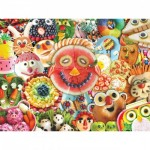 Puzzle  Master-Pieces-31846 XXL Pieces - Funny Face Food