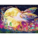 Puzzle  Master-Pieces-31852 XXL Pieces - Glow in the Dark - Moon Fairy