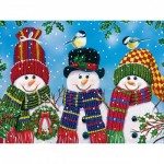 Puzzle  Master-Pieces-31910 XXL Pieces - Snowy Afternoon Friends