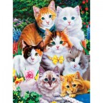 Puzzle  Master-Pieces-31919 XXL Pieces - Purrfectly Adorable