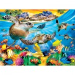 Puzzle  Master-Pieces-31924 XXL Pieces - Tropics Breaking Waves