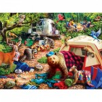 Puzzle  Master-Pieces-31997 XXL Pieces - Campsite Trouble
