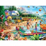 Puzzle  Master-Pieces-31999 XXL Pieces - Day at the Lake