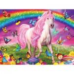 Puzzle  Master-Pieces-32003 XXL Pieces - Glow in the Dark - Rainbow World